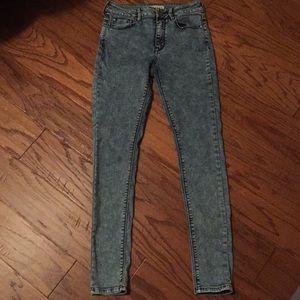 Bullhead Acid Wash Skinny Jeans Size 5